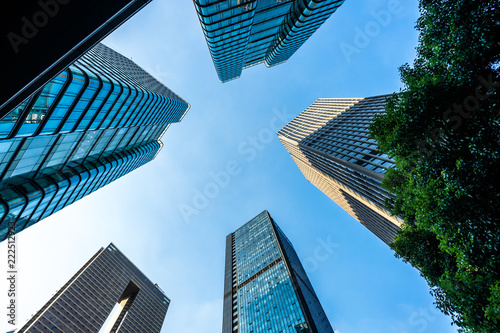 Foto Murales modern office building in urban