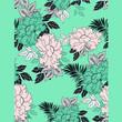 Ilustracion de patron de flores  - 222514727