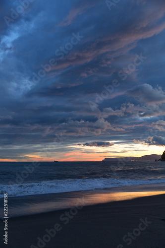 Fototapeta tramonto a celle ligure
