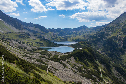 Mountain lake in 5 lakes valley in Tatra Mountains, Poland