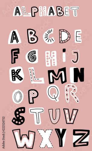 angielski-recznie-rysowane-alfabet-wektor