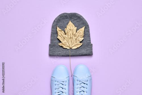 Fall Fashion Minimal Set. Autumn. Pastel color