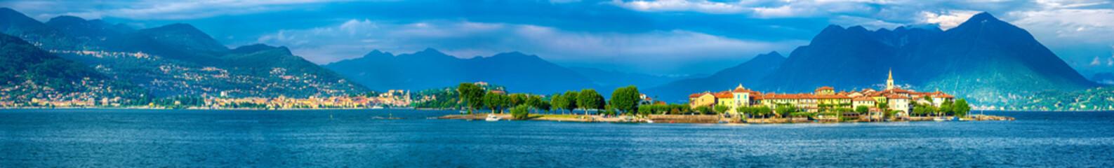 Isola dei Pescatori, Borromäische Inseln, im Lago Maggiore, Italien