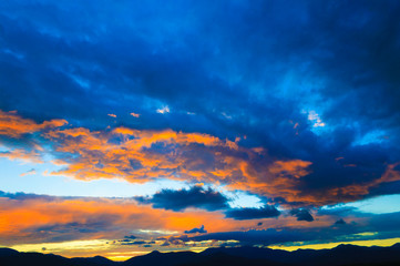 Sunset over Mt. Mansfield, VT, USA