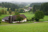 Austria landscape of rural farm steads - 222569335
