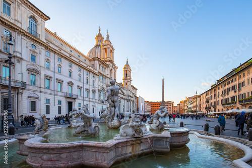 Piazza Navona kwadrat w Rzym, Włochy