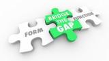 Form Vs Function Bridging the Gap Puzzle Pieces 3d Animation - 222570902