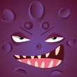 Cartoon monster face - 222574540