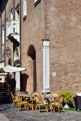 veduta panoramica di alcuni angoli di Ravenna, Italia