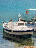 Small boat on sea water - 222601758
