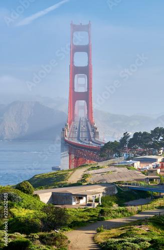 Leinwanddruck Bild Golden Gate Bridge, San Francisco, California