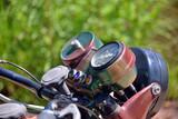 particolari di una vecchia motocicletta