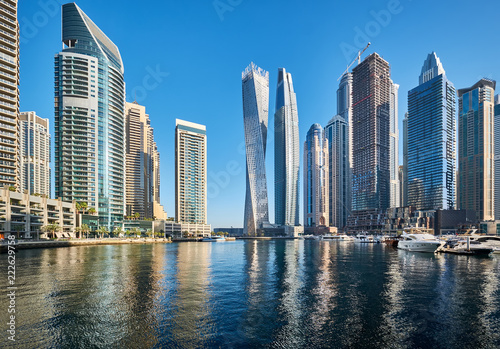 obraz PCV Dubai marina skyline in United Arab Emirates