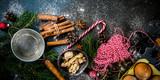 Christmas baking background - 222633508