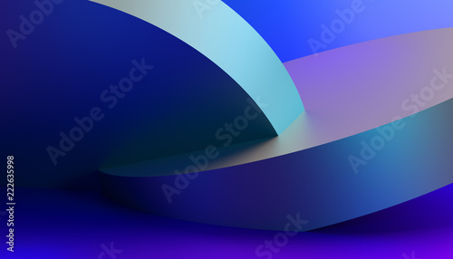 Abstract 3d rendering of a modern geometric background. Minimalistic design for poster, cover, branding, banner, placard. - 222635998