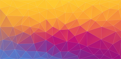 Flat multicolor 2D triangle background