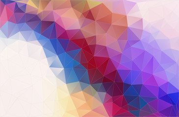 Flat abstract triangle banner. Vector Background