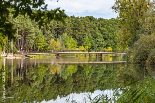 Fototapeta Most na Jeziorze Długim - Olsztyn