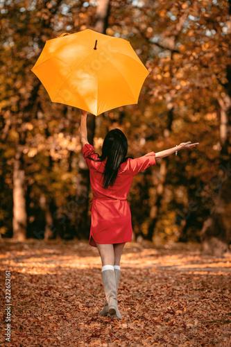 Happy Woman In Autumn Park © milanmarkovic78