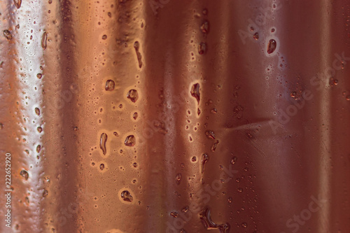 condensate on a dark bottle with beer close-up beautiful abstraction - 222652920