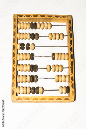abacus tool for accountants old for background design - 222656166