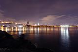 The Williamsburg bridge and Manhattan skyline in New York