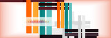 Color stripes and lines, geometric abstract background