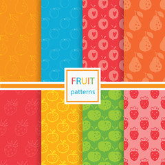 Fruits seamless patterns set © annata78