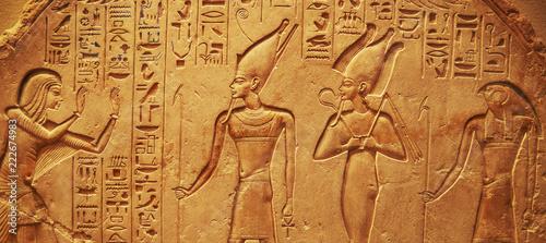 Leinwanddruck Bild Ancient Egypt hieroglyphs
