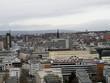 weitblick über frankfurt am main  fotografiert während einer sightseeing tour von einer kirchturmplattform in frankfurt am main mit einem weitwinkel objektiv