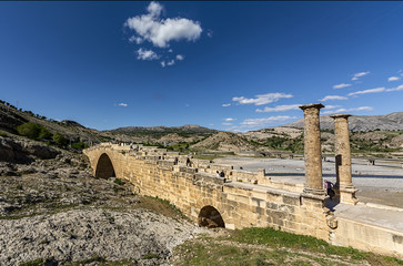 Adiyaman. Also known as the Cendere Bridge, the Roman Bridge or the Septimius Severus Bridge. © muratti6868