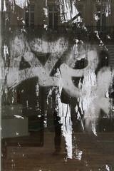 Distressed urban glass texture
