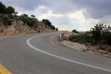 автомобильная дорога в горах на севере Израиля        - 222696306