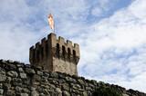 single tower castle ruin in Este , Padua province , Veneto region Italy - 222696390