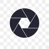 shutter icon on transparent background. Modern icons vector illustration. Trendy shutter icons - 222697948