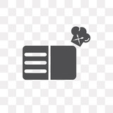 Recipe vector icon isolated on transparent background, Recipe logo design - 222699757