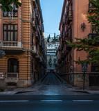 narrow street in granada spain