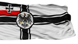 War Ensign Of Germany 1903 1918 Flag, Isolated On White Background, 3D Rendering - 222724581