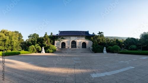 The Entrance of Sun Yat-sen Mausoleum in Nanjing City in the Morning