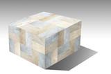 Marble cube isolated on white background - 222729510