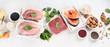 Leinwanddruck Bild - High protein foods