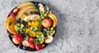 Leinwandbild Motiv Fruit and berries platter.