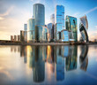 Leinwanddruck Bild - Moscow International Business Center, Russia