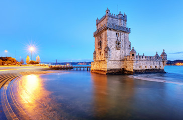 Belem tower, Lisbon - Portugal at night