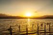 Stagno Colostrai al tramonto