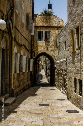a street in one of the quarters of Jerusalem - 222756160