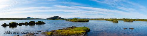 Panoramiczny krajobraz Jezioro w Islandia
