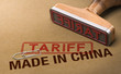 Trade War, Tariff For Goods and Products Made in China - 222765732
