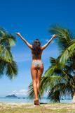 Woman enjoy tropical beach