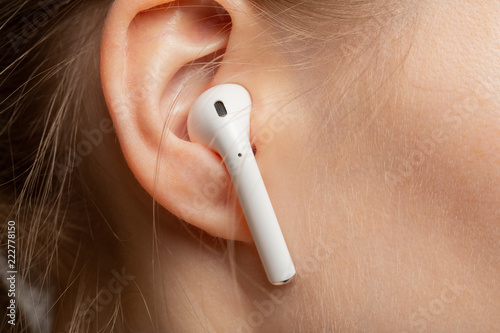 ear with earphone - 222778150